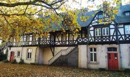 Старый дом в парке стоковые изображения rf