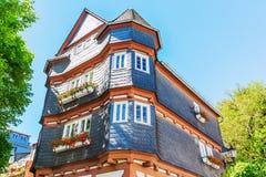 Старый дом в Herborn, Германии Стоковое фото RF