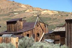 Старый дом - город-привидение Bodie - Калифорния Стоковое Изображение RF