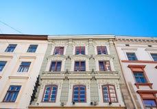 Старый дом, здание, кирпич замка винтажный и камень Стоковые Изображения RF
