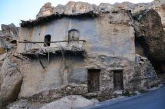 Старый дом на камне, на Maaloula Стоковые Изображения