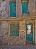 Старый дом на улице, Rethymno Стоковые Изображения