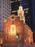 Старый дом положения Бостона на сумраке Стоковое фото RF