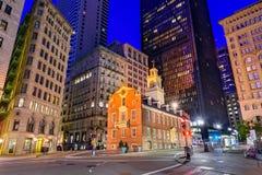 Старый дом положения Бостона стоковая фотография
