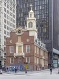 Старый дом положения в Бостоне Стоковая Фотография