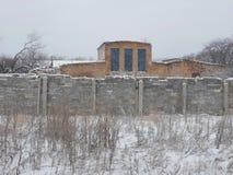 Старый дом с загородкой Стоковое Изображение RF