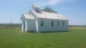 Старый дом церков и школы Стоковая Фотография