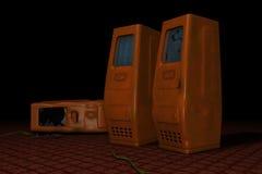 старый он-лайн сервер стоковая фотография rf