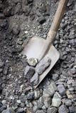 Старый лопаткоулавливатель в угле Стоковое Фото
