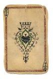 Старый оплачивая туз карточки предпосылки ornamental лопат Стоковая Фотография RF
