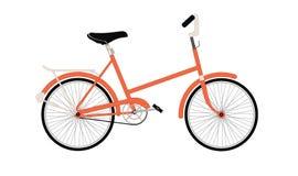 Старый оранжевый велосипед Стоковое Изображение