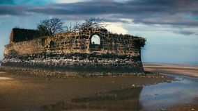 Старый остров форта сток-видео
