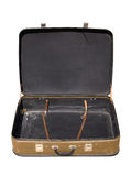 старый открытый чемодан Стоковое фото RF