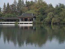 Старый павильон, westlake Ханчжоу стоковое фото