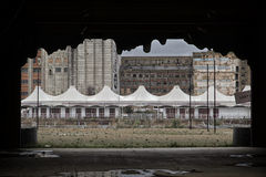 Старый парк атракционов Стоковое Фото