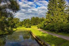 Старый парк в пригородах Стоковое Изображение RF