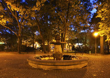 Старый парк в Busko-Zdroj Польша Стоковое Фото