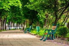 Старый парк города с стендами Стоковые Фото