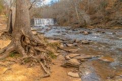 Старый парк мельницы, Roswell, Грузия США стоковое фото
