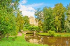 Старый парк осени Стоковая Фотография RF