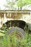 Старый парк повреждения автомобиля в одичалом Стоковое Фото