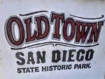 Старый парк положения Сан-Диего городка исторический Стоковое Изображение