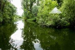 Старый парк с прудами Стоковое фото RF