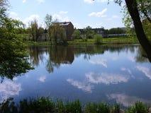 Старый парк XVI столетия Стоковое фото RF