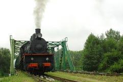 Старый паровоз пара Стоковые Фотографии RF