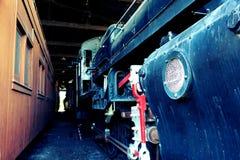 Старый паровоз пара Стоковое Изображение