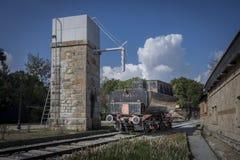 Старый паровоз пара стоковая фотография