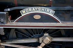 Старый паровой двигатель - Morayshire стоковые изображения rf