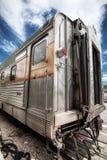 Старый пассажирский автомобиль железной дороги на железной дороге гранд-каньона стоковые изображения rf