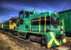 старый пассажирский поезд Стоковое Изображение RF
