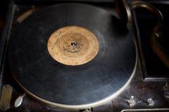 Старый патефон в музее антиквариатов Стоковые Фото
