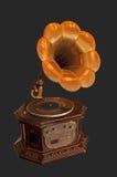 Старый патефон с рожком Стоковое Фото