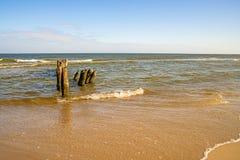 Старый пах в Балтийском море в Польше Стоковая Фотография RF