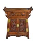Старый первоначально винтажный деревянный китайский кухонный шкаф комода Стоковая Фотография RF