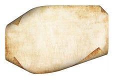 старый пергамент Стоковое Фото