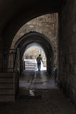 Старый переулок в еврейском квартале Израиль Иерусалим Стоковые Изображения RF