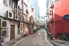 Старый переулок на улице в Сингапуре Городок истории Сингапура стоковые изображения rf