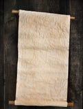Старый перечень на деревянном Стоковое Изображение RF