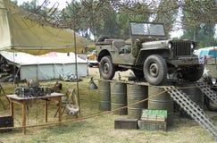 Старый пикник автомобиля Стоковое фото RF