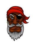 Старый пират шаржа с заплатой глаза Стоковая Фотография