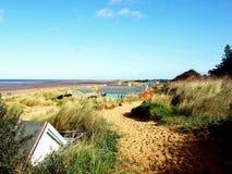 Старый пляж Hunstanton, Норфолк, Великобритания стоковое фото rf