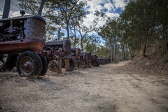 Старый погост трактора minetown Стоковое Фото