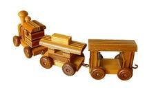 старый поезд игрушки деревянный Стоковая Фотография RF