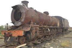 Старый поезд на станции Klipplaat в восточной накидке горы kanonkop Африки известные приближают к рисуночному южному винограднику стоковая фотография rf