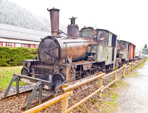 Старый поезд пара Стоковая Фотография RF