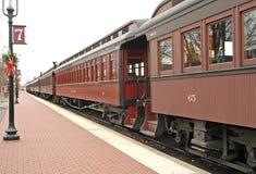 старый поезд станции Стоковое фото RF